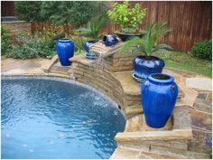 Swimming Pool Landscaping With Pots