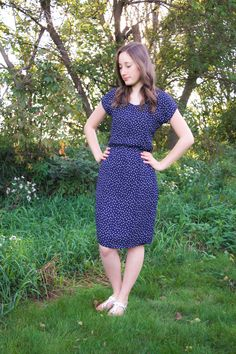 Laura Ann's knee-length Bettine dress - sewing pattern from Tilly and the Buttons
