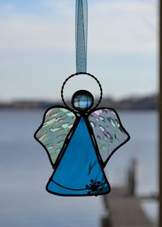 Image detail for -Snow Angel Stained Glass Suncatcher by dortdesigns on Etsy