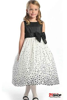 Damask Black and White Flower Girl Dress | kid stuff | Pinterest ...