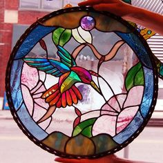 Dichroic Glass Hummingbird - Delphi Stained Glass