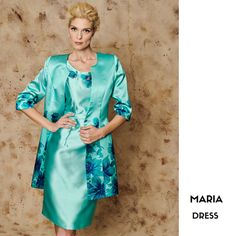 MARIA  Mother of the bride dress with floral details and long jacket CODE: 15423