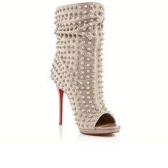 Christian Louboutin- of course. Guerilla spikes 120mm stone suede