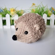 SNUGGLY HEDGEHOG TOY KNITTING PATTERNS