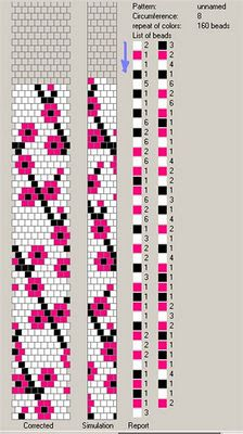 Сакура вязаный жгут из бисера схема на 8 бисерин