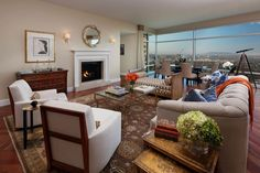 Appartement avec vue superbe et une grande pièce principale à la déco accueillante
