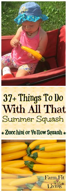Do you have Zucchini and Yellow Squash taking over? Here's 37+ Things to do with all that summer squash. via @www.pinterest.com/farmfitliving