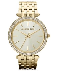 Michael Kors Watch, Women's Darci Gold-Tone Stainless Steel Bracelet 39mm MK3191 - Women's Watches - Jewelry & Watches - Macy's