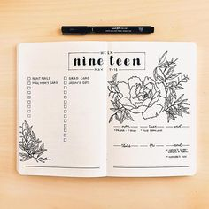 How To Do A Cover Page Bullet Journal Monthly Cover Page June Cover Page Flower Drawings .