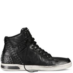 cf55ccd94c4a1 Converse X John Varvatos Weapon Cone Studs Mid Mens Sneakers Leather  Black Turtle