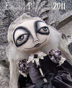OOAK EHAG Primitive Folk Art Witch Ghost Doll PFATT   eBay