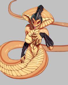 Yessssss more of Viper X-com Female Monster, Monster Art, Yiff Furry, Anime Furry, Fantasy Creatures, Mythical Creatures, Fantasy Character Design, Character Art, Monster Girl Encyclopedia