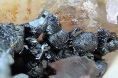 Goethite, Fe+++O(OH) , Clara Mine, Oberwolfach, Black Forest, Germany. Fov 1,5 mm. Collection/Copyright: Reinhold