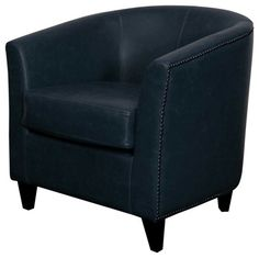 "Orso Vintage Blue Barrel Back Chair: 30""W x 28""D x 30""H - Rent: $42; Buy: $279 TWO IN STOCK"