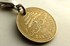 Zipper charm Lebanese charm Vintage charm Middle by CoinStories