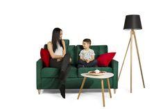 Wygodna sofa dwuosobowa OSLO w przepięknej butelkowej zieleni i niskiej cenie!