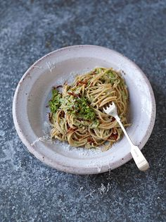 Jamie Oliver's superfood Skinny Carbonara. I need to try this and I also need the SuperFood Cookbook