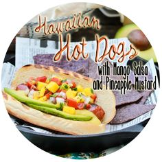 Hawaiian-Style Hot Dogs with Fresh Mango Salsa and Pineapple Mustard ...