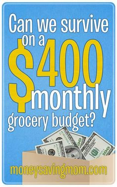 Living on $400.00 a month for groceries