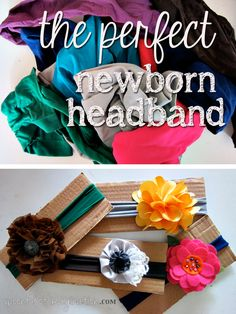 The perfect headband is made from woman's tights! Come see how Spoonful of Imagination creates this perfect newborn headband!