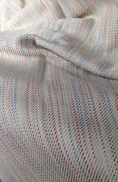 Hand Woven Throw Blanket Merino Wool & Silk Throw for Sofa or Bed Hand Dyed Bedroom Decor (800.00 USD) by FitchStudioWeavers