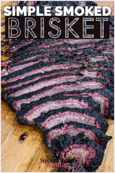 Smoking your first brisket? This smoked brisket recipe will teach you everything you need to know to help you prepare mouthwatering brisket. Smoked Brisket Rub, Grilled Brisket, Beef Brisket Recipes, Traeger Recipes, Smoked Meat Recipes, Smoked Ribs, Grilled Meat, Grilling Recipes, Texas Brisket
