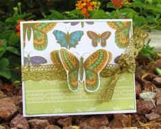 Butterfly Pop-Out Window Card... - Ribbons & Glue