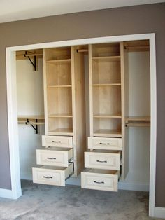 Light Maple hanging closet organizers. Visit us at www.cpwoodcrafters.com to see more.