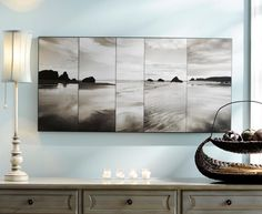 use photography to fill space in decorating