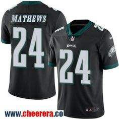 Men's Philadelphia Eagles #24 Ryan Mathews Black 2016 Color Rush Stitched NFL Nike Limited Jersey