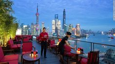 Sir Elly's Terrace at The Peninsula Shanghai promises good drinks, light snacks and the sense that, for an evening at least, the whole city ...