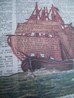 Sailing Ship Vintage Dictionary Page Print by ThePaperSnail, $6.00