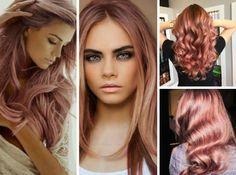 розовое золото на русых волосах