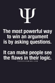 Questions Can Win Arguments in a Non-Combative Way