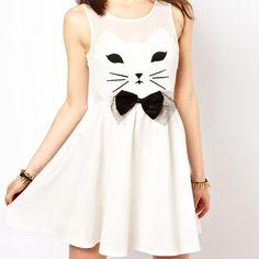 Vestido Regata Cat Bow