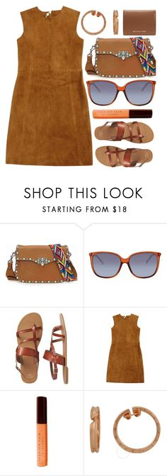"""""""Texas Girl"""" by jomashop ❤ liked on Polyvore featuring Valentino, Gucci, Gap, Laurence Doligé, Fashion Fair, Bulgari, Michael Kors, orange and brown"""
