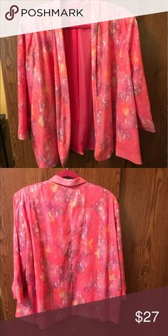 Multi color pink sequin swing sports jacket Multi color pink sequin swing sports jacket.  Size XL peter nygard Jackets & Coats