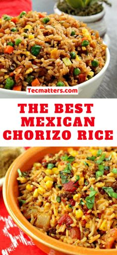 Healthy Meals Mexican Chorizo Rice is a highly flavored and spicy rice meal that goes well with tacos, quesadillas, burritos, and the list keeps going! This is a very healthy recipe that the Mexicans love. Chorizo Recipes, Rice Recipes, Pasta Recipes, Mexican Food Recipes, Dinner Recipes, Cooking Recipes, Healthy Recipes, Ethnic Recipes, Healthy Meals