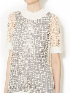 Croc Open Knit Pullover from Robert Rodriguez on Gilt