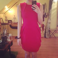 Perfect red dress for office & nightout
