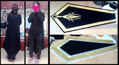 WIP Ashe League of Legends - cape by *ShinjusWorkshop on deviantART Made stencil out of masking tape and painted it in.