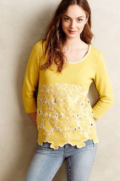 Daybloom Embroidered Pullover - anthropologie.com