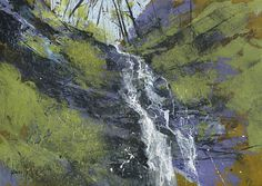 Original landscape painting - Water break its neck