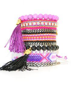 Loving this Pink Tassel Friendship Bracelet Set Made With SWAROVSKI ELEMENTS on #zulily! #zulilyfinds