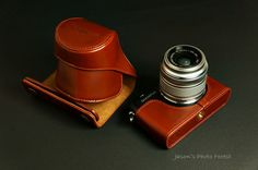 Handmade Full Real Leather Camera Case for Olympus E-PM1(For 14-42mm Lens)