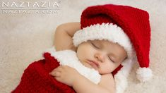 Donna Wolfe from Naztazia http://naztazia.com shows you to crochet a santa hat and cocoon bunting for a baby. You will also learn how to adjust the santa hat...