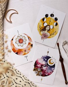 ACCUEIL – Wild Amanda – Expolore the best and the special ideas about Illustrator tutorials Kunstjournal Inspiration, Art Journal Inspiration, Art Inspo, Art Drawings Sketches, Tattoo Sketches, Moon Art, Art Design, Aesthetic Art, Aesthetic Tattoo