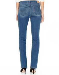 Levi's Shaping Straight Leg Jeans for Women - Rear View