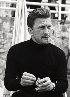 ... , Black Turtleneck, Movie Stars, Celebrities, Actor, Kirk Douglas