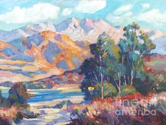 California Lake - impressionist plein aire painting - David Lloyd Glover